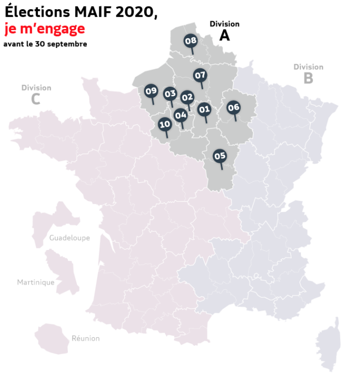 carte de France élections MAIF 2020